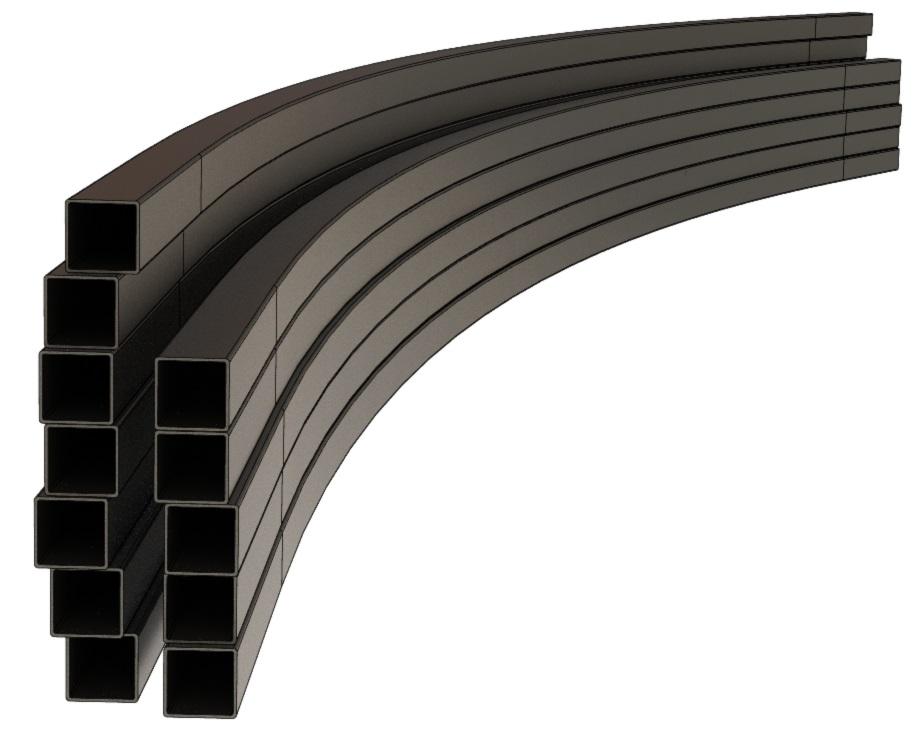 Гибка (вальцовка) профильных труб